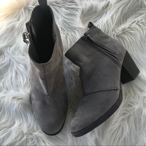 Old Navy gray suede ankle booties size 7